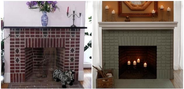 repeindre une chemin e en marbre en brique clem around. Black Bedroom Furniture Sets. Home Design Ideas
