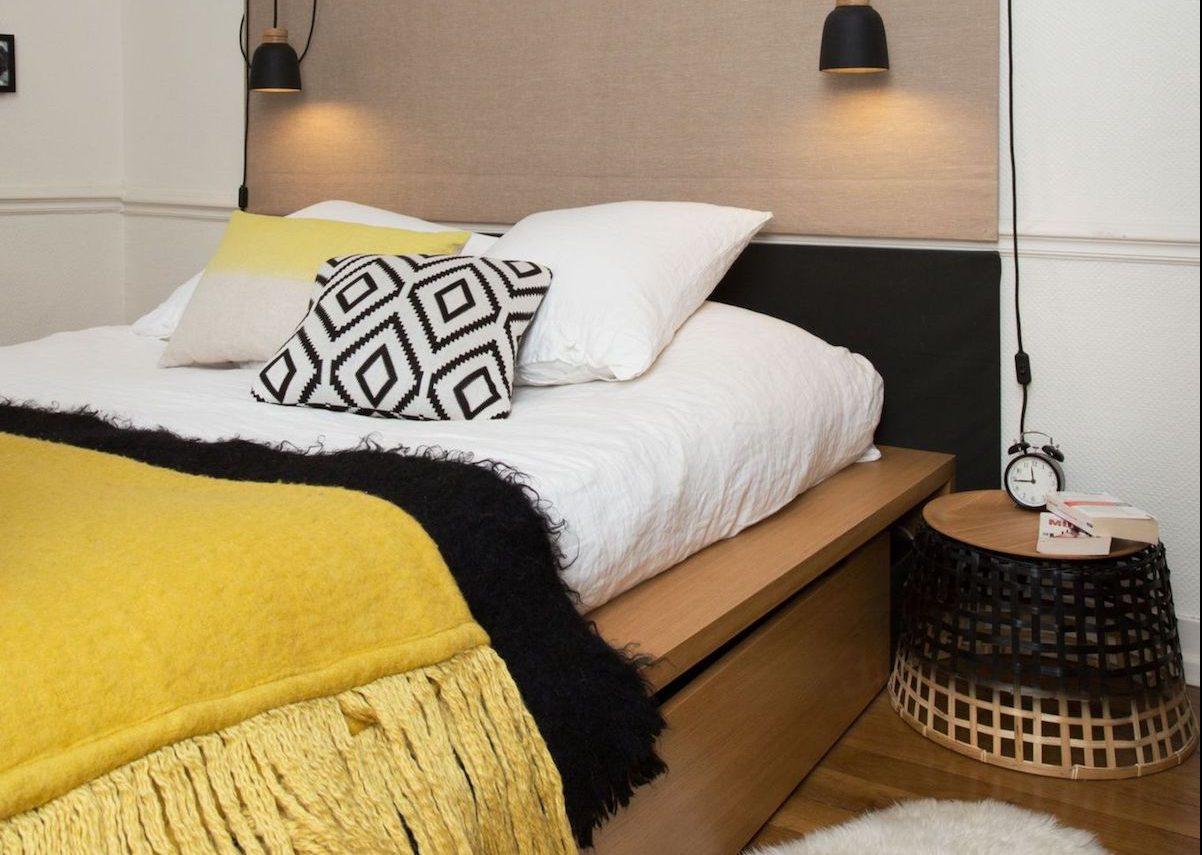 Attrayant Chambre Jaune Moutarde Et Noire Decoration Ethnique