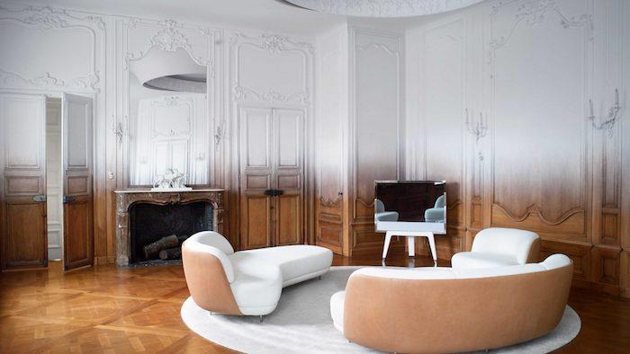 mur tie and dye bois peinture blanche rf studio
