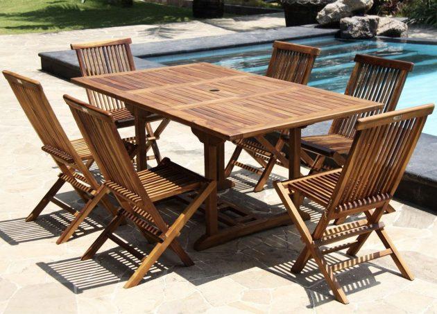 Conseils entretien table en teck et déco de la terrasse - ClemATC