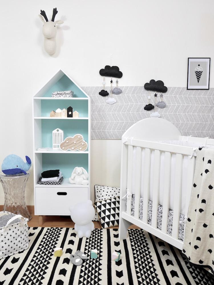 d co chambre b b en noir et blanc blog deco clem atc. Black Bedroom Furniture Sets. Home Design Ideas