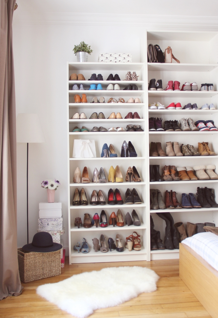 Ikea Hack Billy Diy Bibliothque With Placard A Chaussure Ikea
