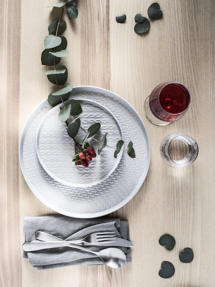 idées tables de noël hygge eucalyptus