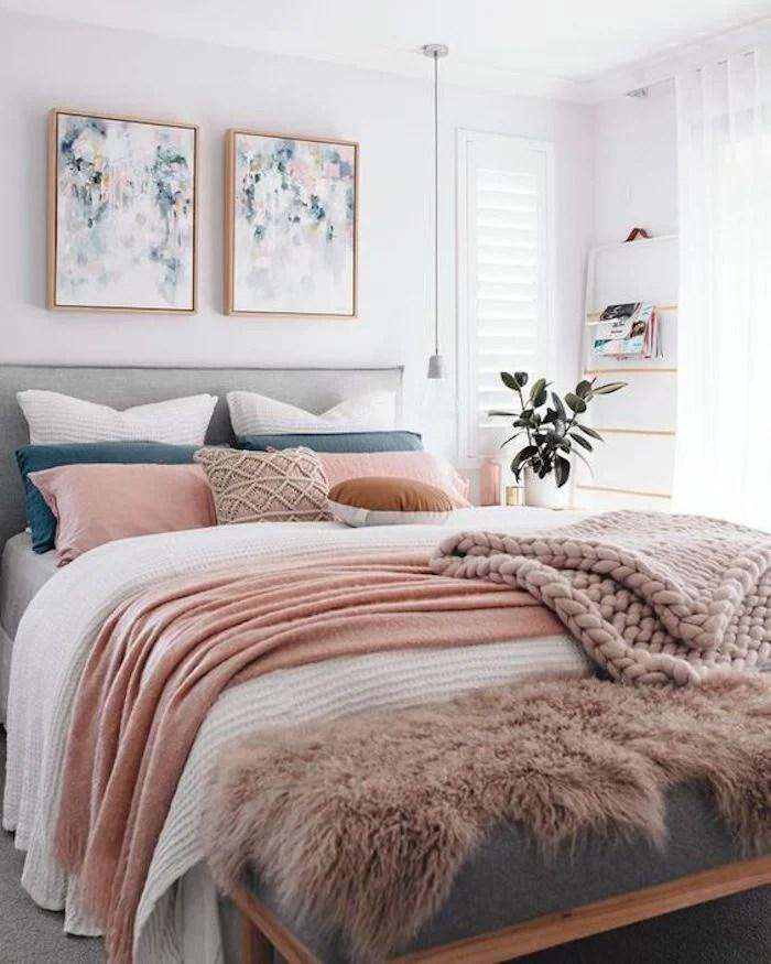 D co rose poudr tendance 2018 clemaroundthecorner blog d co - Deco chambre rose poudre ...