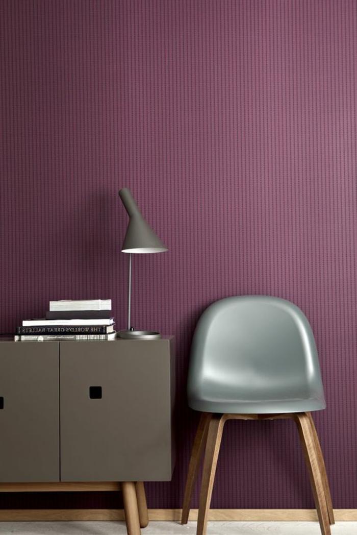Salon Papier Peint Couleur Prune Et Gris Nuancier Violet Interieur
