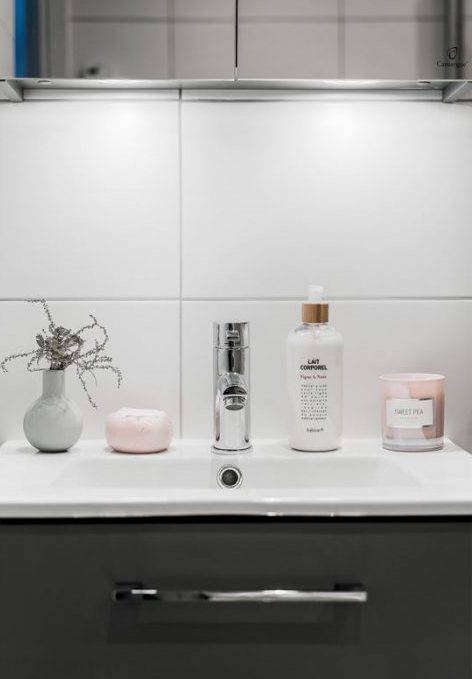 Déco gris rose : visite d\'un appart douillet - Clem Around The Corner