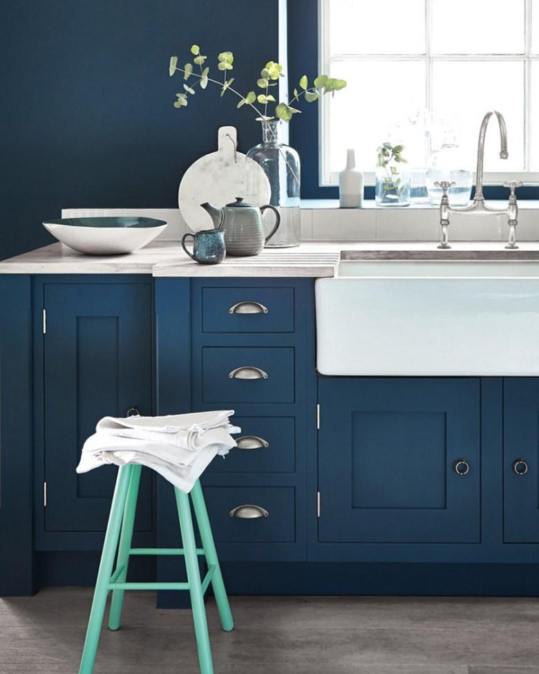 cuisine bleue turquoise idée - blog déco - clem around the corner