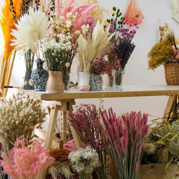 fleurs séchées bouquet décoration florale boho bohème - blog déco - clem around the corner