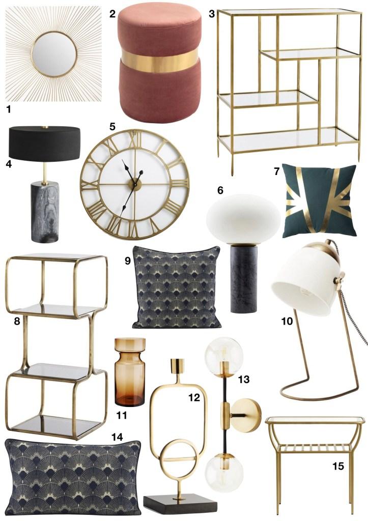 tendance néo art déco shopping liste chambre - blog déco - clem around the corner