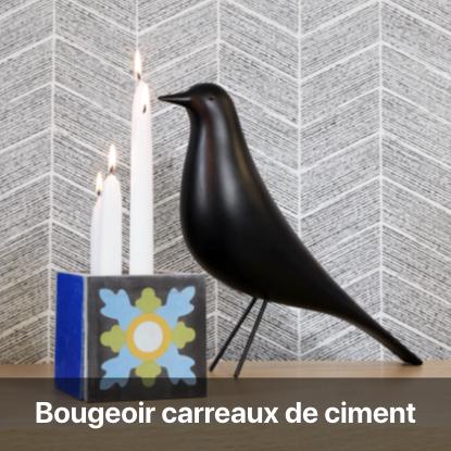 bougeoir carreau ciment tutoriel - blog diy création déco - clem around the corner