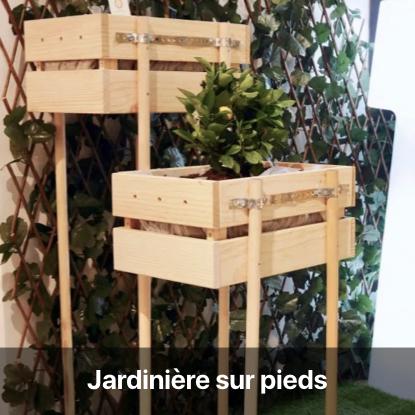 bricolage jardinière sur pieds tutoriel - blog diy création déco - clem around the corner