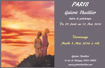 Salon de printemps à la galerie Thuillier à Paris Mai 2016