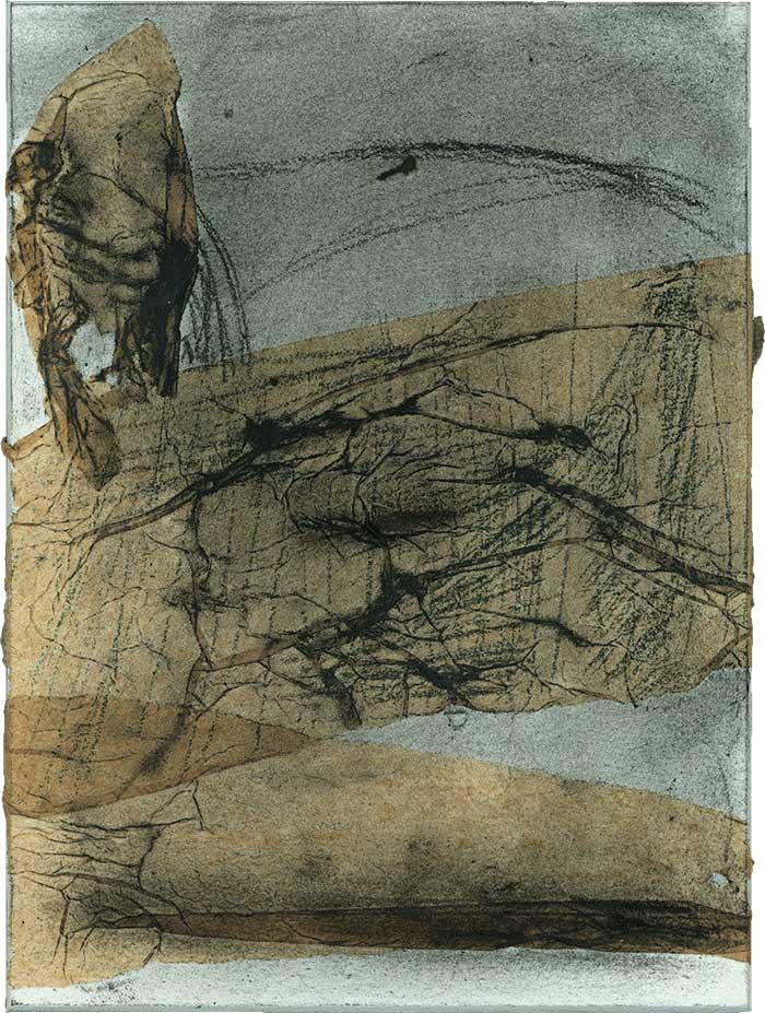engel der finsternis, 2004, mischtechnik/collage