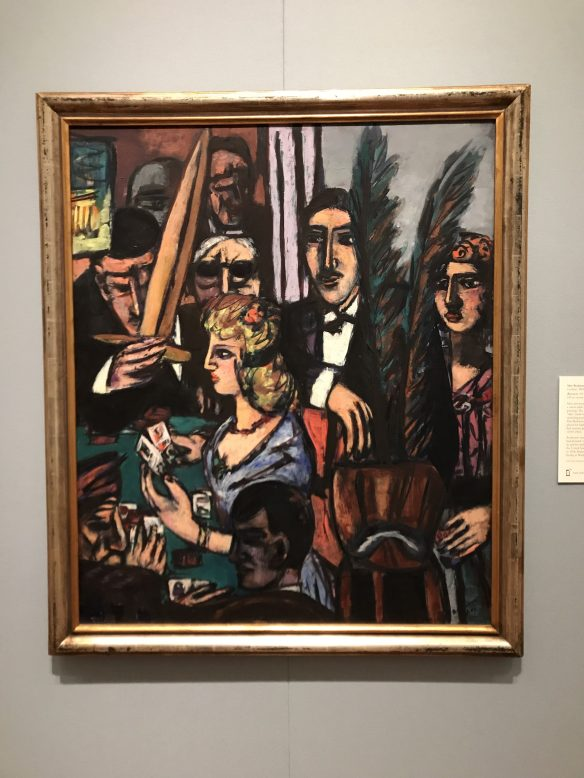 A painting by Max Beckmann