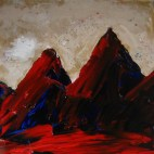 I'm raising money to fight Corona, through sales of paintings like this mountainscape.