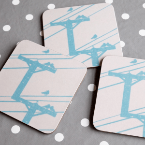 Birds on Wire Coasters by Clement Design