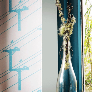 Birds on Wire Wallpaper by Clement Design