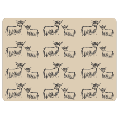 Highland Coo Placemat by Clement Design