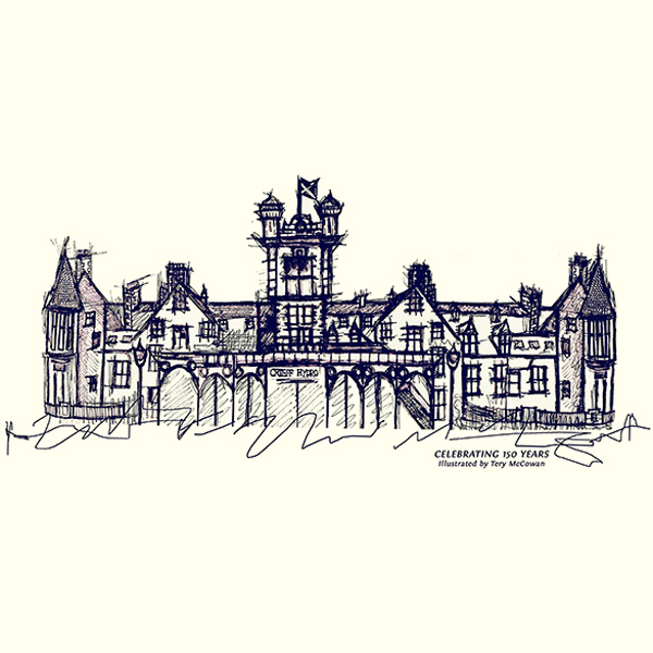 Bespoke Crieff Hydro Illustration by Clement Design