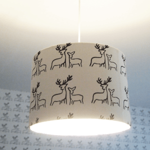 Hand-printed Deer Lampshade by Clement Design