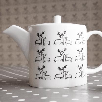 Deer Fine Bone China Teapot by Clement Design