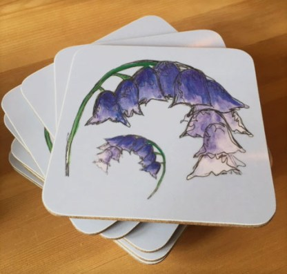 Scottish Bluebells Coasters by Clement Design