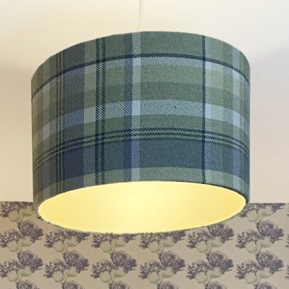 Highland Green Tartan Hand-made lampshade by Clement Design