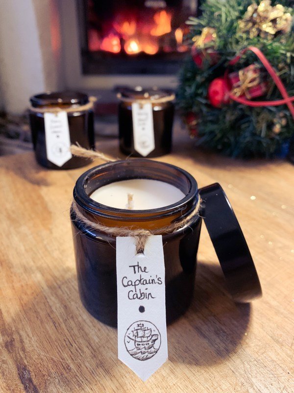 Hand crafted vegan soy candle
