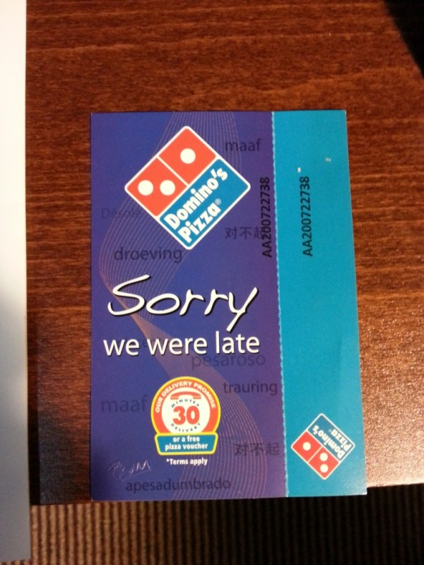 Buy 1 free 1 Dominos Pizza   Clement Ting