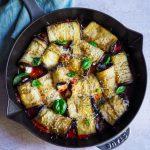 involtini d'aubergine à la ricotta et parmesan