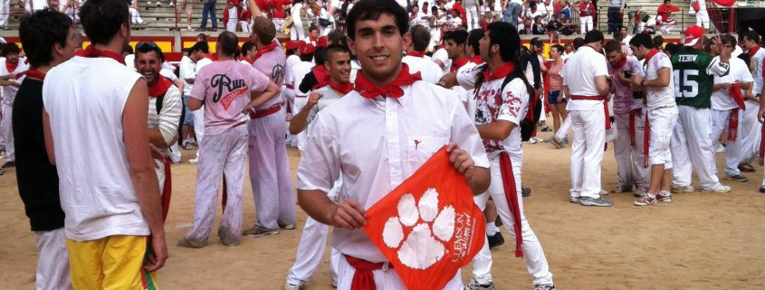 Spain - Matthew Floyd '13 ran with the bulls in Pamplona.