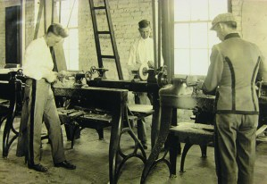 Architecture Woodshop ca 1917