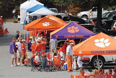 When tailgaters set up at Clemson, they plan to stay the day.