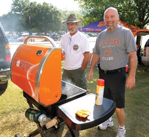 Some fans are more serious than others about their grilling.