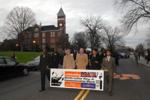 Participating in the annual Martin Luther King Jr. Commemorative March.