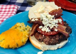 Chipotle blue cheese burgers