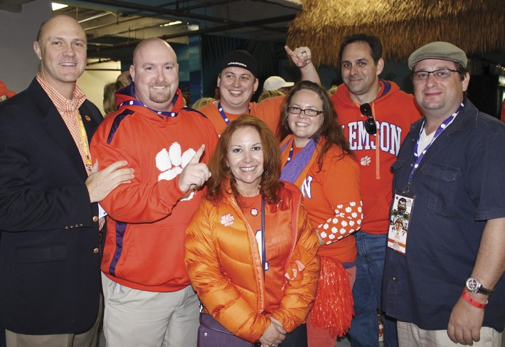 President Clements gathered with alumni and fans at the One Clemson tailgate prior to the game.