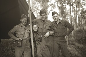 Lt. Clinton Blackmon '41 (second from left) with other officers of Red Arrows Division in Australia, 1942 (courtesy of Clinton R. Blackmon family collection).