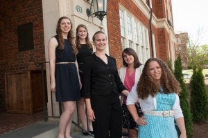 April 12, 2016 - CES students, Allison Jansto, Emily Thompson, Jennifer Wilson, Michelle Greenough, and Catherine McGough. They have won National Science Foundation Graduate Research Fellowships.
