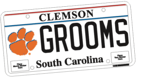 New Clemson license tag