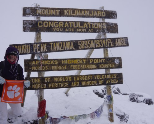 Hannah Creech '15 braved the cold on Mt. Kilimanjaro in Tanzania.