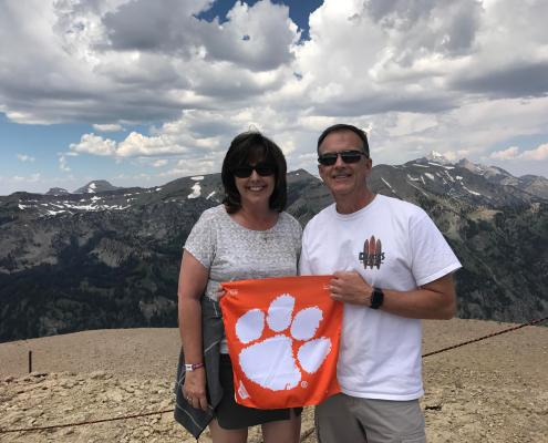 Robert Duvall '84 and wife Phyllis summited Rendezvous Mountain in Grand Teton National Park.