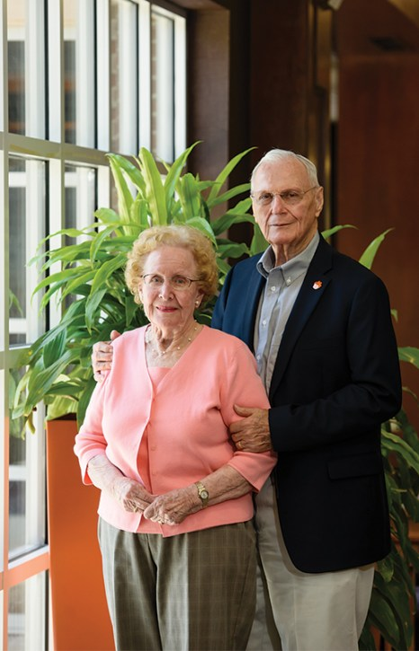 Henry Hoffmeyer '56 with his late wife, Polly.