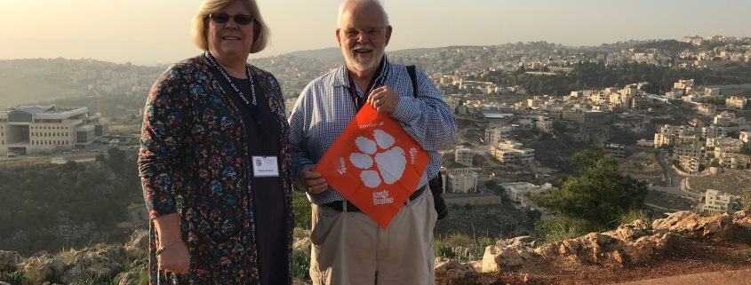 Chuck Graham '71 and his wife Nancy in Israel.