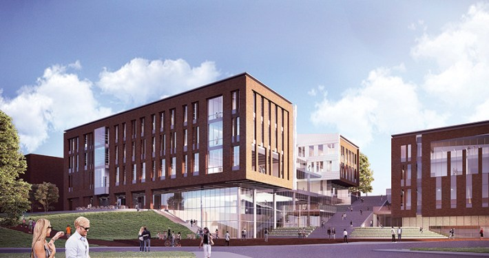 Architecture rendering for new School of Business building
