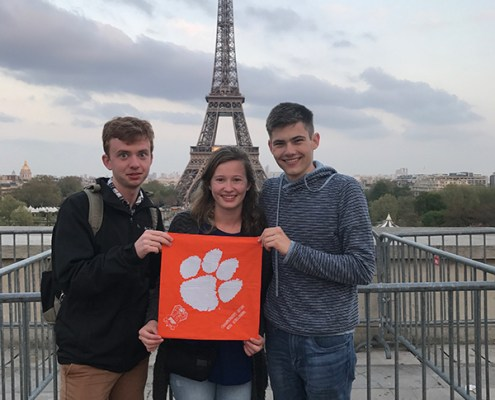 France: David McKeel '21, Elizabeth Tucker '21 and Samuel Livingston '21