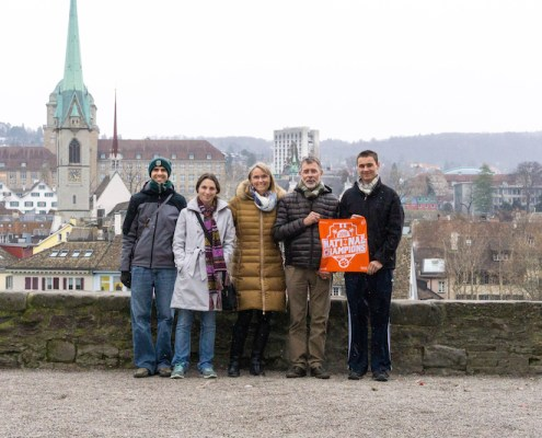 Switzerland: Christopher Temples '08, Laura Temples '06, Heide Temples '14, Tom Temples '76 and Spencer Temples '20