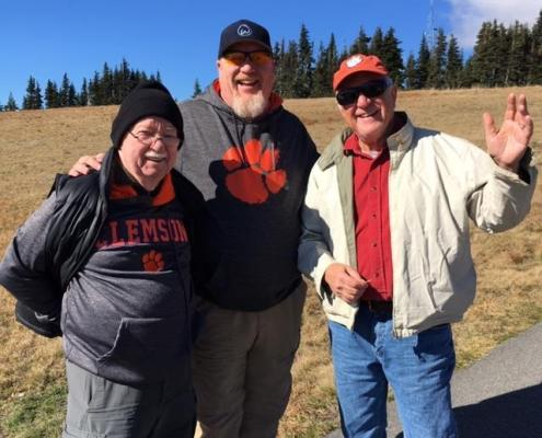 Graham Abbott '56 and his son Graham happened to run across Larry Grimes, emeritus professor of applied economics and statistics, in Olympic National Park.