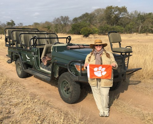South Africa: Stephanie J. Shipley '93 surrounded by the wild beauty of Kruger National Park.