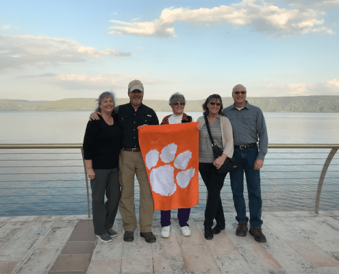 John Hansley '76, M '88, Lisa Hansley '76, Patti Monnen '73, Wayne Coats BS '72 and his wife, Jennifer, traveled to Israel in March 2019, visiting the Sea of Galilee.